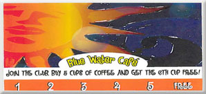 Blue Water Cafe Card
